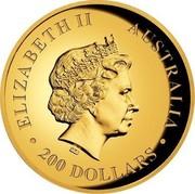 Australia 200 Dollars Wedge-Tailed Eagle 2014 KM# 2211 ELIZABETH II AUSTRALIA 200 DOLLARS IRB coin obverse