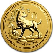 Australia 200 Dollars Year of the Dog 2018 YEAR OF THE DOG P IJ coin reverse