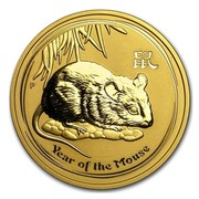 Australia 200 Dollars Year of the Mouse 2008 YEAR OF THE MOUSE P coin reverse
