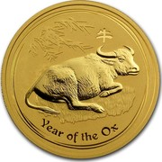 Australia 200 Dollars Year of the Ox 2009 YEAR OF THE OX P coin reverse