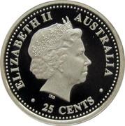 Australia 25 Cents FIFA World Cup 2006 2006 ELIZABETH II AUSTRALIA IRB ∙ 25 CENTS ∙ coin obverse