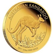 Australia 25 Dollars Australian Kangaroo 2017 AUSTRALIAN KANGAROO 2017 1/4 OZ 9999 GOLD P JM coin reverse