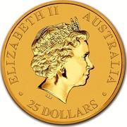 Australia 25 Dollars Australian Kangaroo 2018 ELIZABETH II AUSTRALIA 25 DOLLARS IRB coin obverse