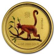 Australia 25 Dollars Climbing Monkey (Colorized) 2004 2004 1/4 OZ 9999 GOLD coin reverse