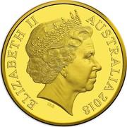 Australia 25 Dollars FIFA World Cup 2018 ELIZABETH II AUSTRALIA 2018 IRB coin obverse