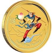 Australia 25 Dollars Monkey King 2016 YEAR OF THE MONKEY P coin reverse