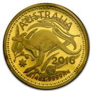 Australia 25 Dollars RAM Kangaroo 2016  AUSTRALIA 2016 1/4 OZ .9999 AU coin reverse
