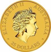 Australia 25 Dollars Resting Kangaroo 2016 ELIZABETH II AUSTRALIA ∙ 25 DOLLARS ∙ coin obverse