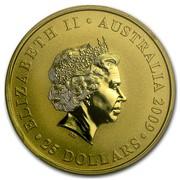 Australia 25 Dollars Sovereign 2009 KM# 1244 ELIZABETH II AUSTRALIA 2009 25 DOLLARS IRB coin obverse