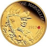 Australia 25 Dollars The ANZAC Spirit 100th Anniversary - Beersheba 2017 THOSE MARVELLOUS HORSES 1917 P WR coin reverse