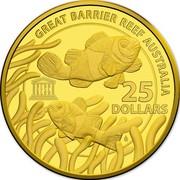Australia 25 Dollars UNESCO Great Barrier Reef 2015 GREAT BARRIER REEF AUSTRALIA 25 DOLLARS UNESCO coin reverse