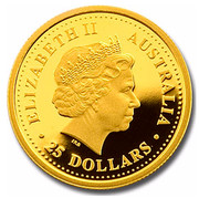 Australia 25 Dollars Year of the Dog 2006 KM# 1892a ELIZABETH II AUSTRALIA 25 DOLLARS IRB coin obverse