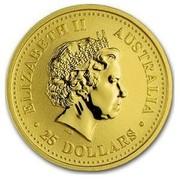 Australia 25 Dollars Year of the Pig (Colorized) 2007 ELIZABETH II AUSTRALIA 25 DOLLARS IRB coin obverse