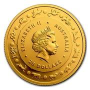 Australia 25 Dollars Year of the Rooster 2017 ELIZABETH II AUSTRALIA 25 DOLLARS IRB coin obverse