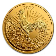 Australia 25 Dollars Year of the Rooster 2017 2017 1/4 OZ .9999 AU TD coin reverse