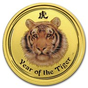 Australia 25 Dollars Year of the Tiger (Colorized) 2010 YEAR OF THE TIGER P coin reverse