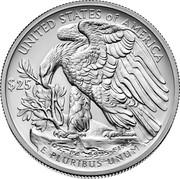 USA $25 Eagle 2017 KM# 667 UNITED STATES OF AMERICA $25 1 OZ. PD .9995 FINE E PLUTIBUS UNUM coin reverse