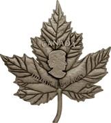 Canada 250 Dollars Maple Leaf Shaped 2017 CANADA ELIZABETH II D ∙ G ∙ REGINA SB coin obverse