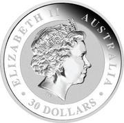 Australia 30 Dollars Australian Kookaburra 2016 ELIZABETH II AUSTRALIA 30 DOLLARS IRB coin obverse