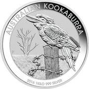 Australia 30 Dollars Australian Kookaburra 2016 AUSTRALIAN KOOKABURRA 2016 1 KILO 999 SILVER P NM coin reverse