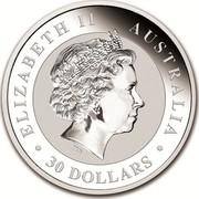Australia 30 Dollars Australian Kookaburra 2018 ELIZABETH II AUSTRALIA 30 DOLLARS IRB coin obverse