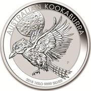 Australia 30 Dollars Australian Kookaburra 2018 AUSTRALIAN KOOKABURRA 2018 1 KILO 9999 SILVER P NH coin reverse