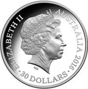 Australia 30 Dollars Australian Olympic Team 2016  ELIZABETH II AUSTRALIA 2016 30 DOLLARS IRB coin obverse