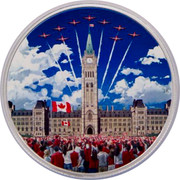 Canada 30 Dollars Celebrating Canada 2017 Proof JK coin reverse