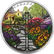 Canada 30 Dollars Gate to the Enchanted Garden 2017  CANADA TB coin reverse
