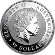 Australia 30 Dollars Kookaburra 2014 KM# 2119 ELIZABETH II AUSTRALIA 30 DOLLARS IRB coin obverse