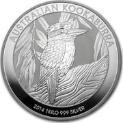 Australia 30 Dollars Kookaburra 2014 KM# 2119 AUSTRALIAN KOOKABURRA 2014 1 KILO 999 SILVER P NM coin reverse