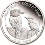 Australia 30 Dollars Kookaburras 2017 AUSTRALIAN KOOKABURRA 2017 1 KILO 999 SILVER P NM coin reverse