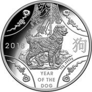 Australia 30 Dollars Lunar Dog 2018 2018 YEAR OF THE DOG 1 KG .999 AG coin reverse