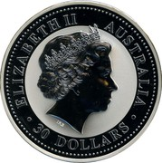 Australia 30 Dollars Lunar German Shepard 2006  ELIZABETH II AUSTRALIA IRB ∙ 30 DOLLARS ∙ coin obverse