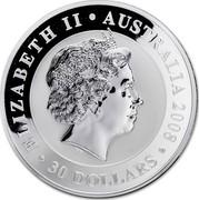 Australia 30 Dollars Mother and baby Koala 2008 ELIZABETH II AUSTRALIA 2008 30 DOLLARS IRB coin obverse