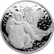 Australia 30 Dollars Mother and baby Koala 2008 1 KILO 999 SILVER P coin reverse