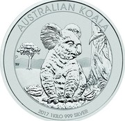 Australia 30 Dollars Resting Koala 2017 AUSTRALIAN KOALA 2017 1 KILO 999 SILVER P TV coin reverse