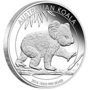 Australia 30 Dollars The Koala 1 kilo 2016 AUSTRALIAN KOALA 2016 1 KILO 999 SILVER P IJ coin reverse