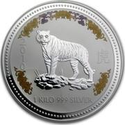 Australia 30 Dollars Tiger (Colorized) 2010 (2007) 2010 1 KILO 999 SILVER coin reverse