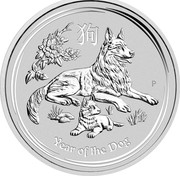 Australia 30 Dollars Year of the Dog 2018 2018 YEAR OF THE DOG P IJ coin reverse