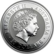Australia 30 Dollars Year of the Dog (German Shepard) 2006 ELIZABETH II AUSTRALIA 30 DOLLARS IRB coin obverse
