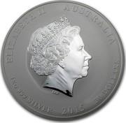 Australia 30 Dollars Year of the Goat 2015 ELIZABETH II AUSTRALIA 1 KG 999 SILVER 2015 30 DOLLARS IRB coin obverse