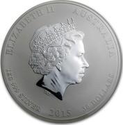 Australia 30 Dollars Year of the Goat (Colorized) 2015 ELIZABETH II AUSTRALIA 1 KG 999 SILVER 2015 30 DOLLARS IRB coin obverse