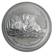 Australia 30 Dollars Year of the Mouse 2008 YEAR OF THE MOUSE P coin reverse