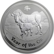 Australia 30 Dollars Year of the Ox 2009 KM# 1899a YEAR OF THE OX P coin reverse