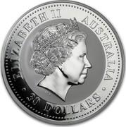 Australia 30 Dollars Year of the Pig 2007 ELIZABETH II AUSTRALIA 30 DOLLARS IRB coin obverse