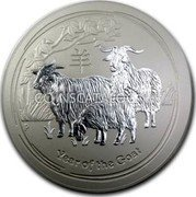 Australia 300 Dollars Year of the Goat 2015 YEAR OF THE GOAT P coin reverse