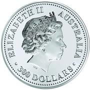 Australia 300 Dollars Year of the Pig 2007 ELIZABETH II AUSTRALIA 300 DOLLARS IRB coin obverse
