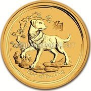 Australia 3000 Dollars Year of the Dog 2018 YEAR OF THE DOG coin reverse