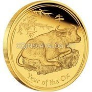Australia 3000 Dollars Year of the Ox 2009 YEAR OF THE OX P coin reverse